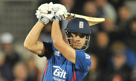 Alastair Cook hits out for England