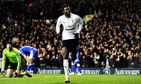 Emmanuel Adebayor scored 17 Premier League goals for Tottenham while on loan