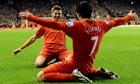 Liverpool's Steven Gerrard and Luis Suárez