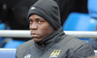 Mario Balotelli on the bench at Fulham
