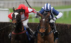 Monbeg Dude, left, in action at Chepstow
