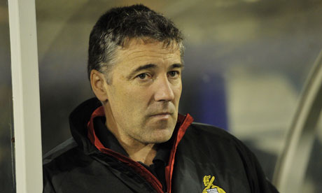Dean Saunders watches Doncaster