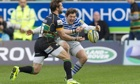 Northampton's Ben Foden, left, went head to head with Alex Goode of Saracens on Saturday