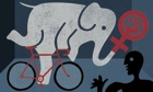Elephant on Bicycle