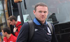 England's Wayne Rooney arrives in Podgorica