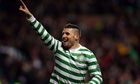 Gary Hooper was absent from the Celtic squad which flew to Belfast for the game against Cliftonville