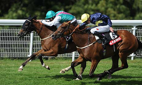 Winsili and William Buick win the Nassau Stakes from Thistle Bird at Glorious Goodwood.