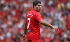 Luis Suárez playinmg in Steven Gerrard's testimonial