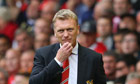 Manchester United manager David Moyes looks on during the Premier League match against Liverpool