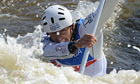 David Florence during the C1 men's final at the 2013 ICF Canoe Slalom World Championships in Prague
