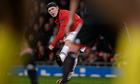 Manchester United's Wayne Rooney in action during Champions League against Bayer Leverkusen