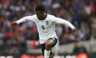 Daniel Sturridge had hoped to be fit for England's trip to Ukraine but is hampered by a thigh strain