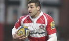 Jonny May of Gloucester is in England's 35-man squad for the 2014 Six Nations
