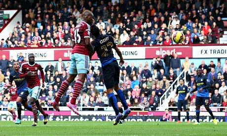West Ham Uniteds Diafra Sakho on target again to down Manchester City...