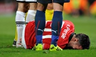Robin van Persie hopeful of making Manchester derby after knee injury
