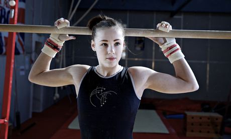 Gymnast Rebecca Tunney prepares for the British championships, which will take place in Liverpool