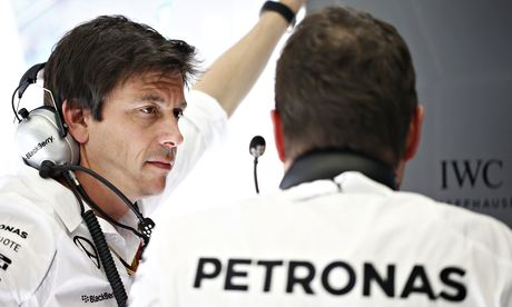 The Mercedes motorsport chief, Toto Wolff