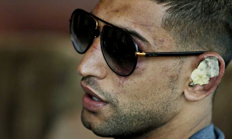 Amir Khan defeated Luis Collazo in Las Vegas but did not emerge from the welterweight bout unscathed