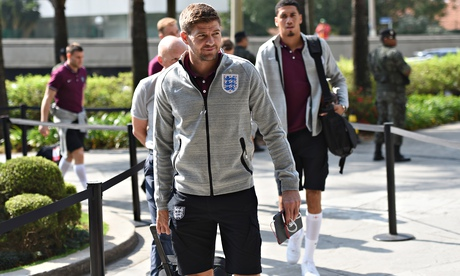 Steven Gerrard arrives at the England team hotel in São Paulo, where he promised 'bold and aggressiv