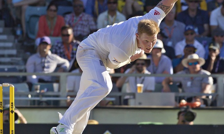 Durham's Ben Stokes drew the opporbirum of Middlesex's John Simpson after bowling him with a waist-h