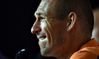 Holland's Arjen Robben addresses questions about his diving at a press conference in Rio de Janeiro