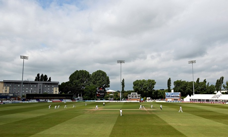 Action at the County Ground in Derby on Thursday, where the Indian beat Derbyshire by five wickets.