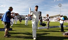 India's Murali Vijay leaves the field at close of play on day one at Trent Bridge with a score of 12