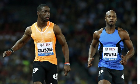 Kemar Bailey-Cole wins the 100m at the Diamond League meeting in Zurich