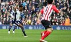 Saido Berahino puts West Brom 1-0 up against Southampton in the Premier League at The Hawthorns