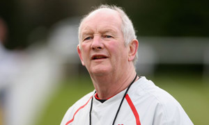 England Head Coach Brian Ashton during a training session held at Bath University