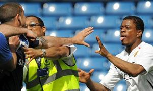 Patrice Evra pitch brawl