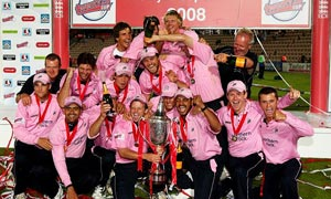Middlesex celebrate winning the Twenty20 Cup