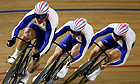 Chris Hoy, Jason Kenny and Jamie Staff power their way to team track cycling gold