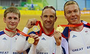 Jamie Staff, Chris Hoy, and Jason Kenny