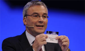 Chelsea are drawn in group A during the 2008/2009 UEFA Champions League Draw
