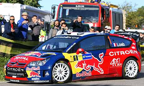 Auto Racing Rallying on Motor Racing  Rally Catalunya  Loeb Dominates Opening Day   Sport