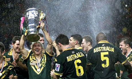 ... the end of the Rugby League World Cup in 2000. Photograph: Max Nash/AP