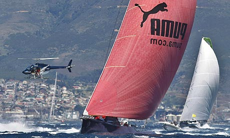 Puma Volvo Ocean Race. Puma leads the fleet of Open 70 racing yachts at the ...