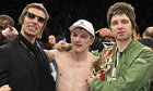 Liam Gallagher, Ricky Hatton and Noel Gallagher