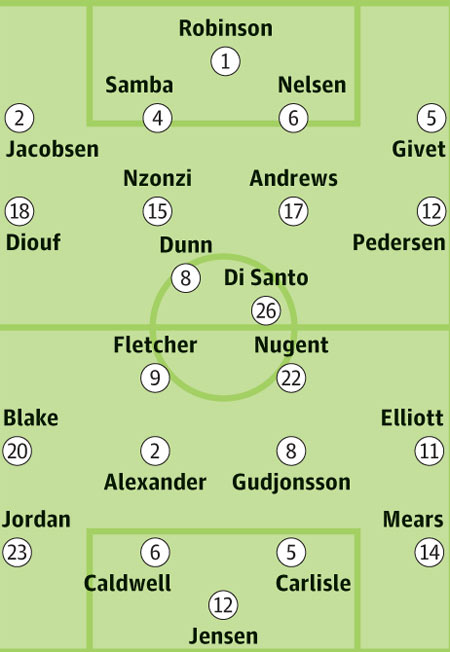 Squad sheets: Blackburn Rovers v Burnley