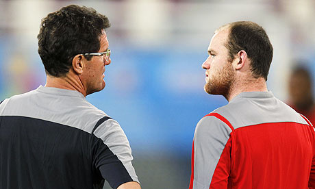 Fabio Capello and Wayne Rooney