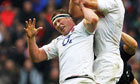 Dylan Hartley of England jumps for the ball against New Zealand