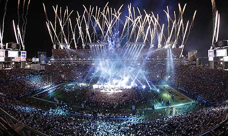 Fireworks at Super Bowl