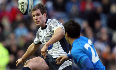 Giulio Rubini came on as a replacement during Italy's game against Scotland at Murrayfield