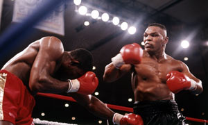 Mike Tyson and Frank Bruno