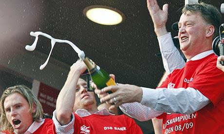 Van Gaal celebra la Eredivisie con el AZ