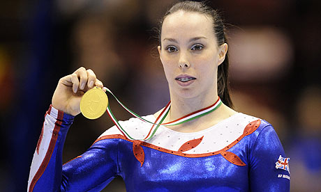 Beth Tweddle took Bronze in The Uneven Bars Event