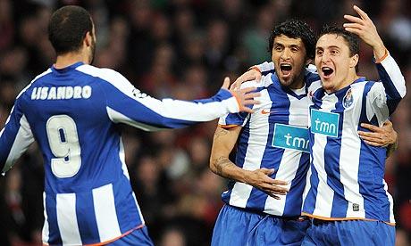 Porto celebrate their opening goal