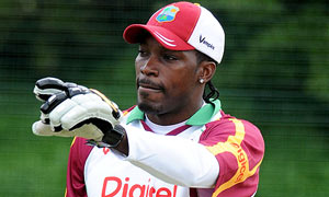 West Indies captain Chris Gayle during a nets session at Chester-Le-Street