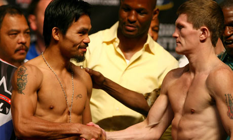 Manny Pacquiao and Ricky Hatton: all smiles before the Big Fight
